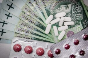 Posess Dangerous Drugs Icon | Narcotics and Banknotes