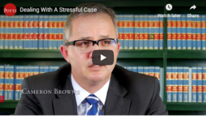 dealing with stressful case